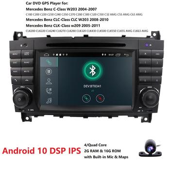 Android 10.0 7 Inch Car DVD GPS For Mercedes/Benz W203 W209 W219 A-Class A160 C-Class C180 C200 CLK200 radio dab Free Camera