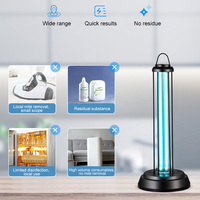 Portable for Bedroom Mobile UV Lamp Light 220V 38W Remote Household Kitchen Office DC120