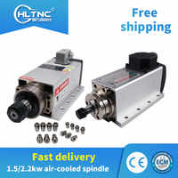2020 promotion from China/Russia 1.5kw/2.2kw 18000RPM/24000RPM air cooled spindle motor +1 set ER11 or ER20 collet For CNC