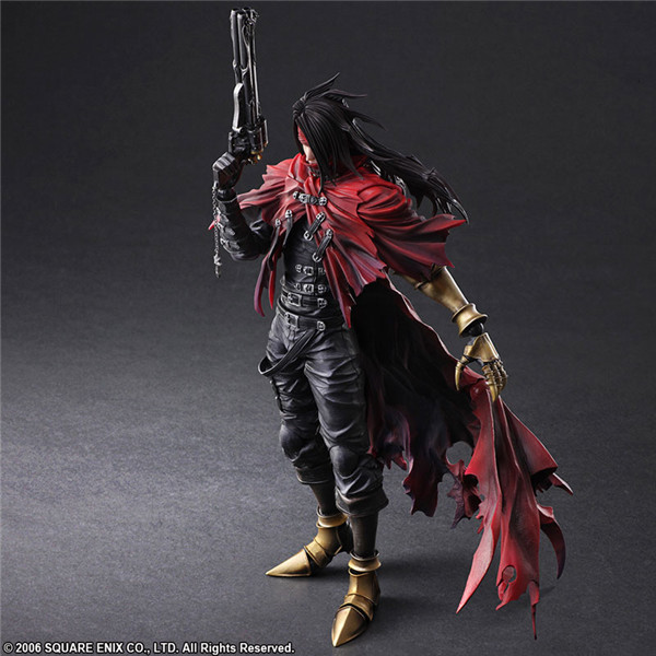 27cm Final Fantasy 7 Vincent Valentine Joint Movable Action Figure PVC Toys Collection Doll Anime Cartoon Model