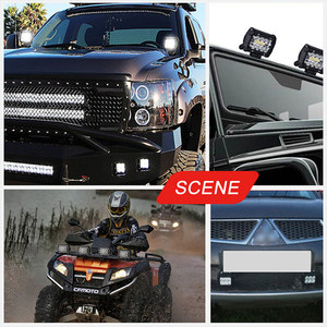 Image 5 - 18W 60W 72W 4 นิ้วไฟLEDทำงานจุดน้ำท่วมCombo Beam 12V 24VสำหรับUAZรถบรรทุก 4X4 ATV SUV UTV LEDขับรถทำงานหมอก