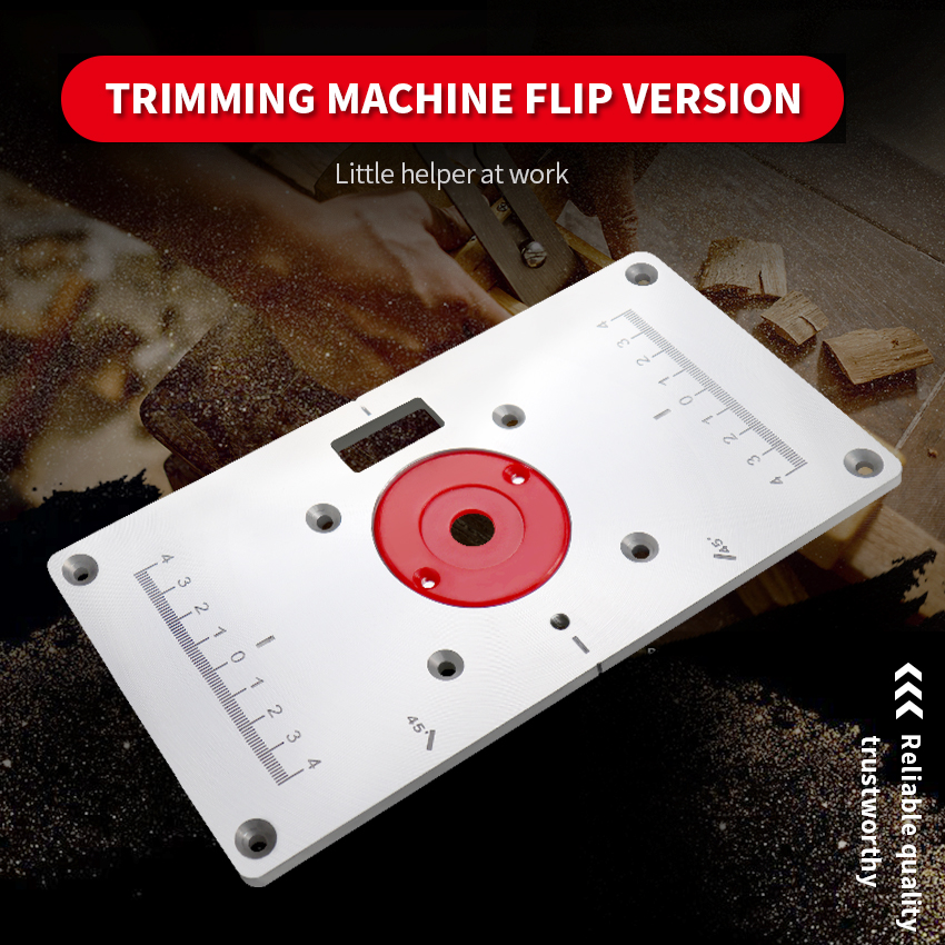 Woodworking Slotting Wood Milling Guide Multifunction Aluminum Router Table Insert Plate 120x235x8 Trimming Machine Flip Plate