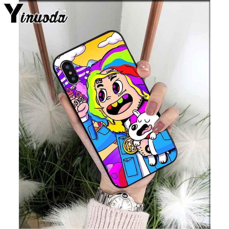 Yinuoda rappeur SixNine 69 Art coque de téléphone en Silicone souple pour Apple iPhone 8 7 6 6S Plus X XS MAX 5 5S SE XR étuis mobiles
