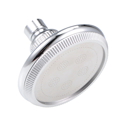 uxcell PT1/2 Thread High Pressure Shower Head 98mm Dia Anti-leak Fixed Chrome Showerhead Adjustable Metal Swivel Ball Joint