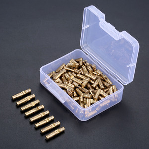 Image 2 - DRELD 100pcs ทองเหลืองปกปิดบานพับเครื่องประดับไม้กล่องตู้ที่มองไม่เห็นบานพับ 4*20 มม. เก็บกล่อง