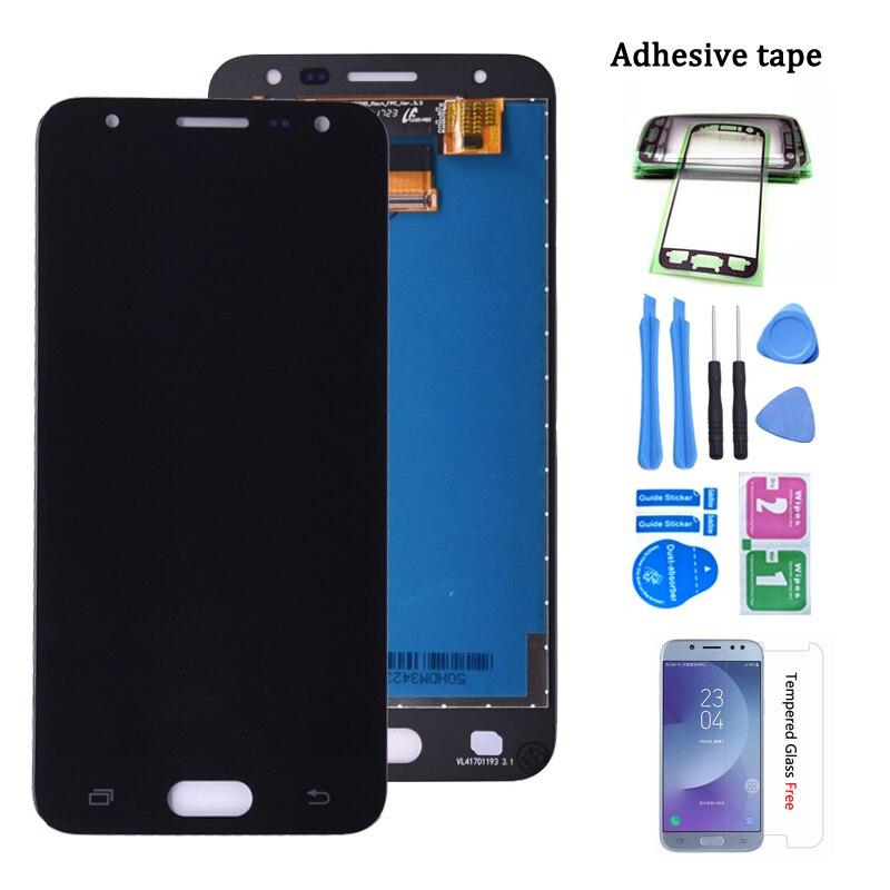 Cep telefonları ve Telekomünikasyon Ürünleri'ten Cep Telefonu LCD'leri'de Orijinal Samsung GALAXY J5 başbakan SM G570F G570Y G570M lcd ekran ve dokunmatik ekranlı sayısallaştırıcı grup ücretsiz kargo title=