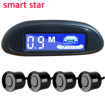 Car Parktronic LED display radar 4 reversing radar sensitivity adjustable backup detection system backlight 2020 hot saling car reversing radar 12v with 4 parking sensor ultrasonic radar detection standby radar monitoring system reversing accessories