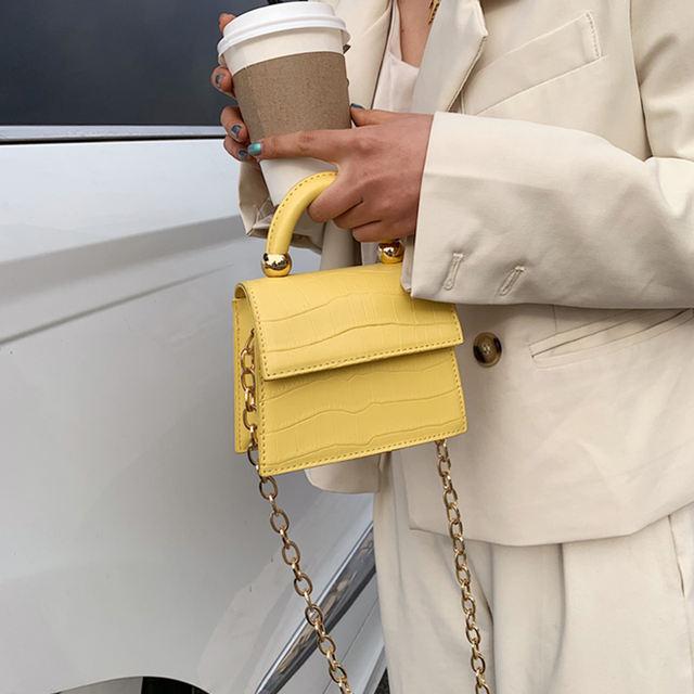 Stone patent mini Crossbody Bags 2020