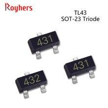 Transistor Electronic-Components SMD 50pcs TL432 36V 431 Triode Voltage-Regulator SOT-23