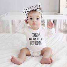 Baby Bodysuits Cousins-Make Long-Sleeve Best-Friends Unisex Wear Girls Boys Winter The