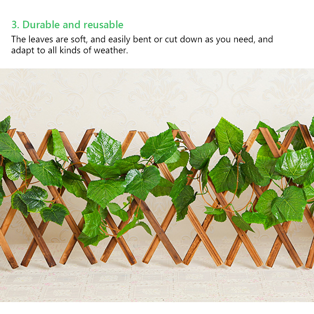 12pcs 3 Style Room Grape Vines Party Hanging Green artificial Decoration Ivy 7.5ft 36/72 leaves Artificial Home Decor Garden-5
