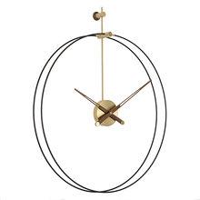 Металлические золотые часы из тонкой меди в Испании настенный