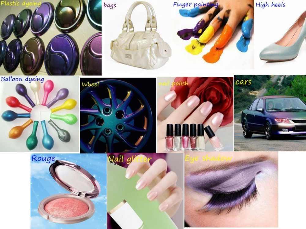 40 renk 10g isteğe bağlı sedefli toz Pigment araba boyası oje mika tırnak Glitter inci toz boya sabun Pigment