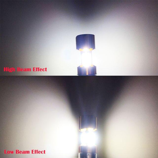Phare de Moto, moteur, ampoule blanche, pour motos, BA20D COB LED, feux de croisement, pour motos, 12V, H6 Led, 6500K, 2000lm, 1 pièce