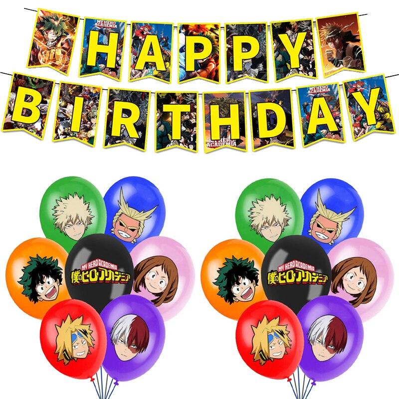 1 комплект мой герой воздушные шары аниме haku шары с днем рождения баннер, флаг Baby Shower вечерние украшения дети мальчик игрушка