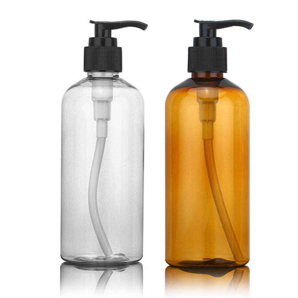 100/200/300ml Lotion Shower Gel Empty Refill Pump Bottle Soap Holder Dispenser