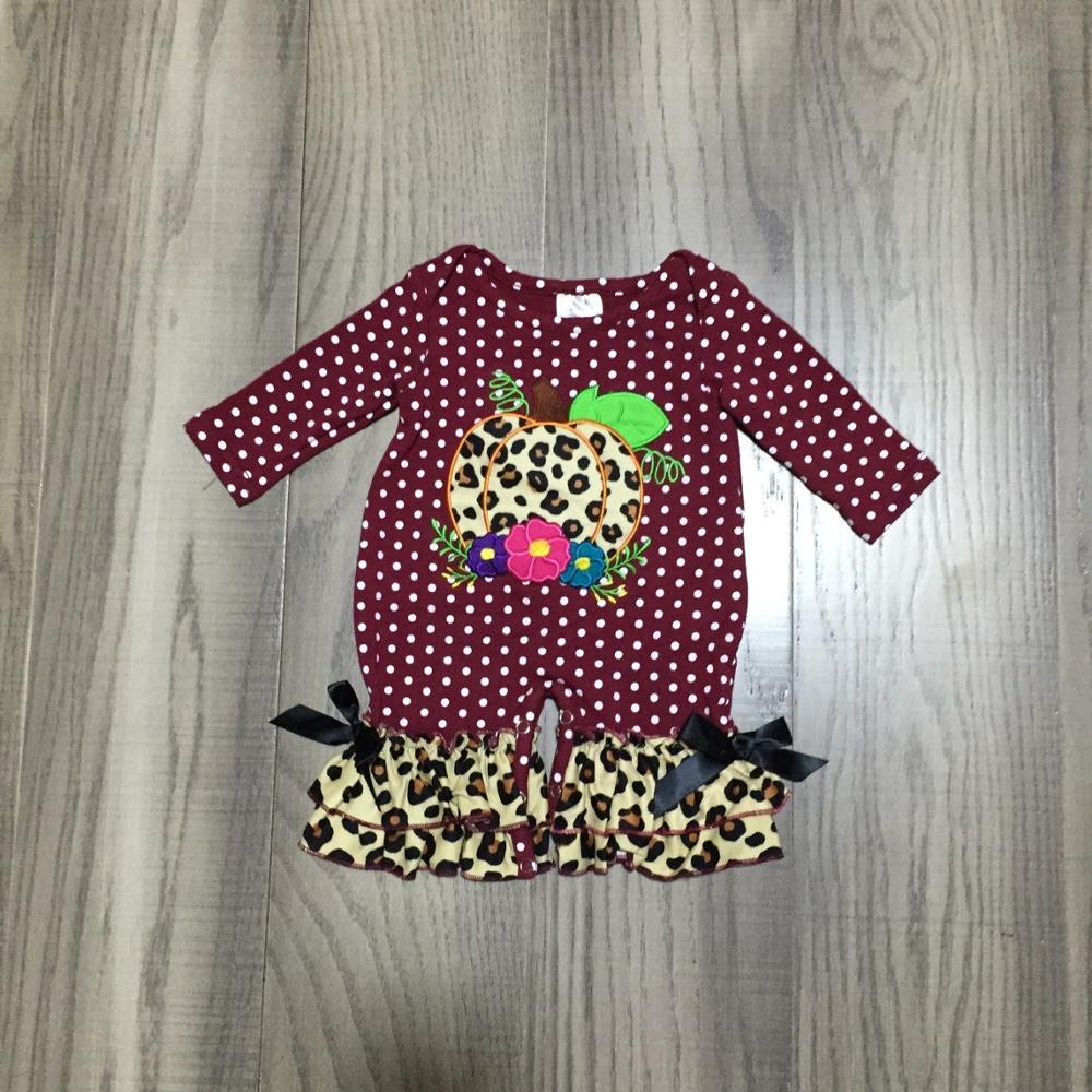 baby girl clothes baby halloween   romper   infant toddler   romper   baby leopard clothes with pumpkin print baby girl cute clothes