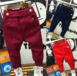 Модная детская одежда Мягкие штаны для мальчика с 2 до 7 лет джинсы Детские джинсы Штаны на каждый день цв. синий Осень-весенние штаны из дени...