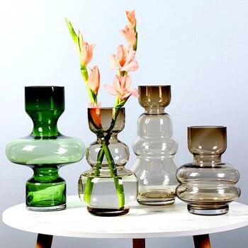 Transparent Hydroponics Flower Vase Home Decor Ornament Wedding Gifts Geometric Glass Container Glass Vase Crafts Plant Holder