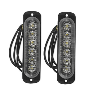 2x 12V-24V 6LED Light Flash Em