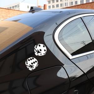 Image 5 - YJZT autocollant de voiture intéressant, dés de Poker Casino, motif de Poker, haute qualité, 13.4x13CM, décoration C12 0060
