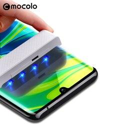 Dla Xiaomi Mi uwaga 10 ochraniacz ekranu Mocolo CC9 Pro pełne zakrzywione szkło hartowane UV dla Xiaomi Mi uwaga 10 Pro ochraniacz ekranu