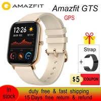 Globalna wersja Amazfit GTS Smart Watch 5ATM wodoodporny zegarek sportowy do pływania 14 dni sterowanie muzyką baterii bez podatku i bezpłatnego statku