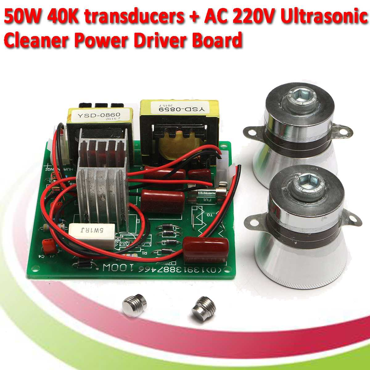100W 220V Ultrasonic Cleaner  Including Matching Transducers Small  Drive Board|Instrument Parts & Accessories| |  - title=