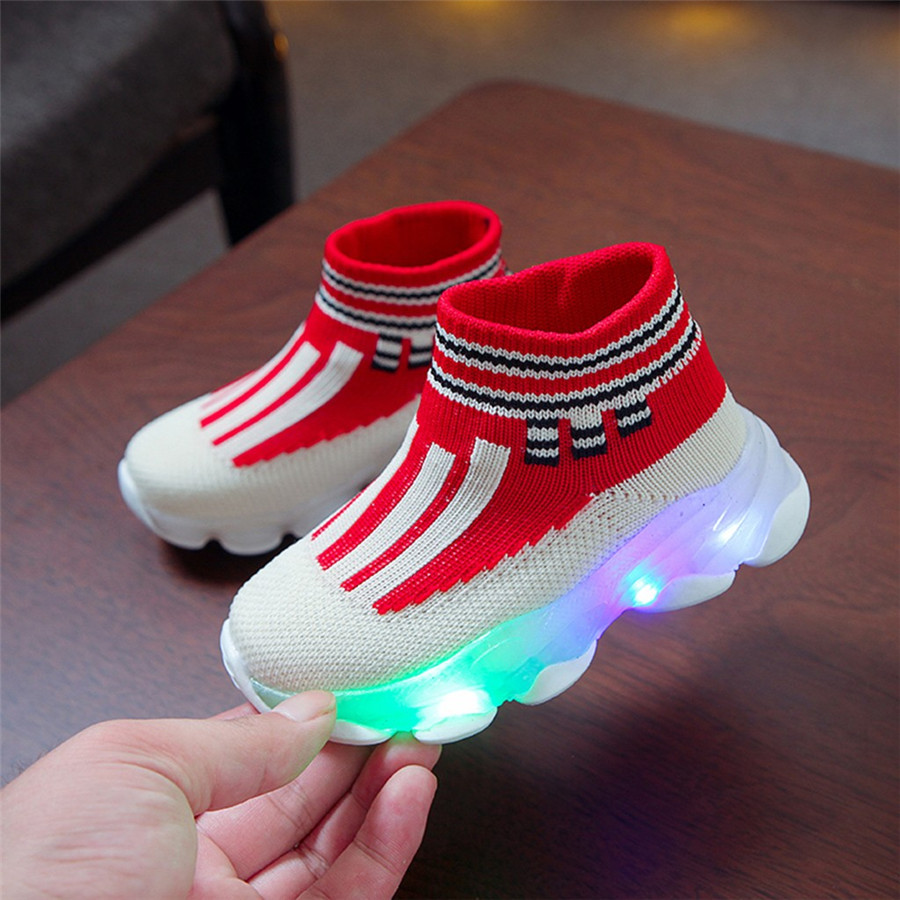 sport shoes kids led luminous running shoes light kids sneakers boy girls football sneakers lights krampon futbol orjinal #40J30 (12)