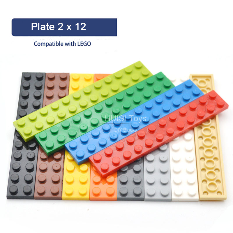 Building Block Brick Parts Model Toys Accessory  Thin 2x12 DIY Enlighten Creative Kids Toy Compatible With Legoes 2445 20Pieces