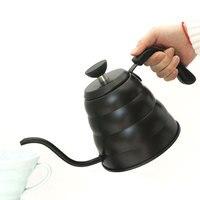 Aço inoxidável despeje sobre a chaleira de café com termômetro  temperatura exata e gooseneck bico 1 & 1.2 litros bule de chá|Cafeteiras| |  -