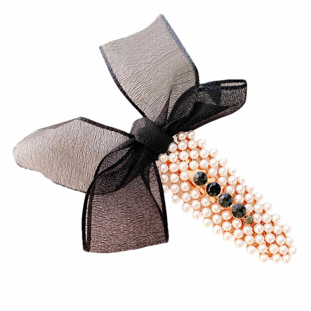 JAYCOSIN Женская жемчужная пряжа с бантом, заколка для волос, заколка для волос, свадебный аксессуар для волос, корейский стиль, элегантная заколка для волос, лидер продаж, 27 сентября
