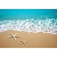 3*6m Polyester Seaside Photo Background Blue Sea Beach Starfish Wedding Birthday Pary Photography Backdrops Fond Studio Photo