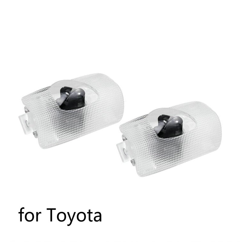 2pcs LED Car Door Welcome Light Projector Logo Laser Light For Toyota Highlander Camry Corolla Reize 4 Runner Crown Prado Prius