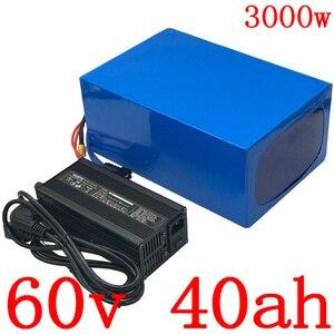 60В литиевый аккумулятор 60В 40ач Электрический Скутер Аккумулятор 60В 40ач 2000 Вт 3000 Вт 4000 Вт Электрический велосипед аккумулятор с 5А зарядным у...