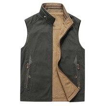 Мужской жилет, большой размер, L-4XL, Осень-зима, 2 стороны, одежда, жилет, без рукавов, пальто, куртка, мужской повседневный жилет, хлопок, модный жилет, топ