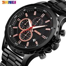 SKMEI Fashion Classical Quartz Watch Men Three Eye Multi Function Wristwatch Top