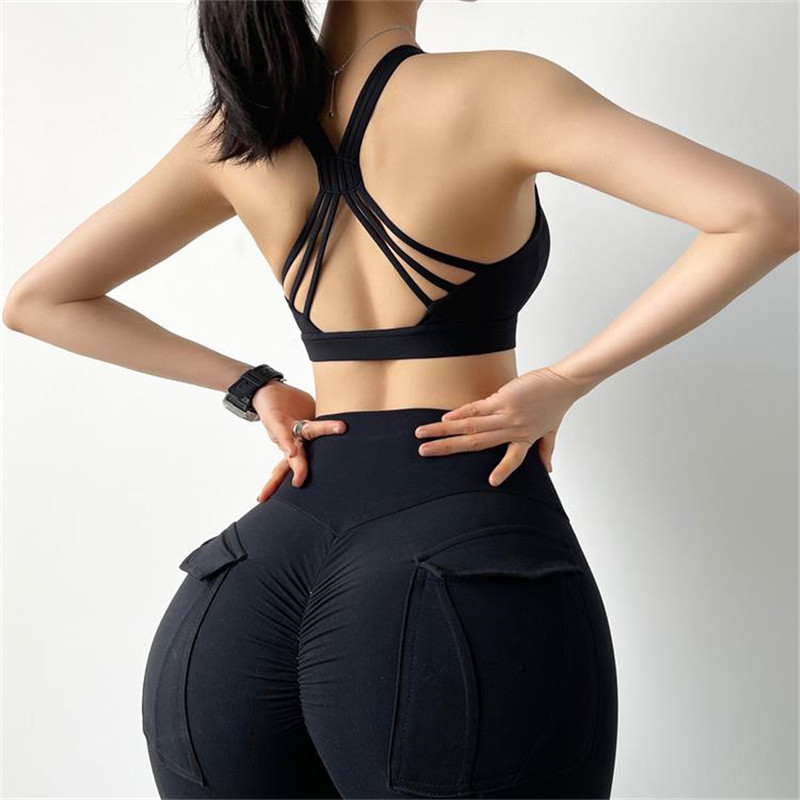 High Stretch Sexy Yoga Crop Top Sports Wear For Ladies Gym Shockproof Running Sport Bra Push Up Fitness Workout Vest Sport9s