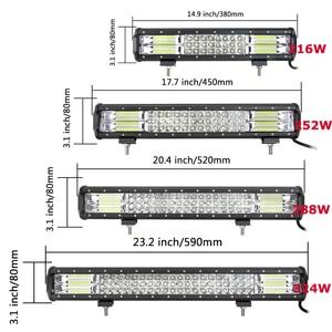 Image 3 - Barra de luz LED de obra, barra de luz LED de 15, 18, 20 , 23, 216w, 252w, 288w, 324w, 7D, Offroad Combo, 12v, 24v, para coche, Tractor, camión, SUV, ATV, barco, 3 filas