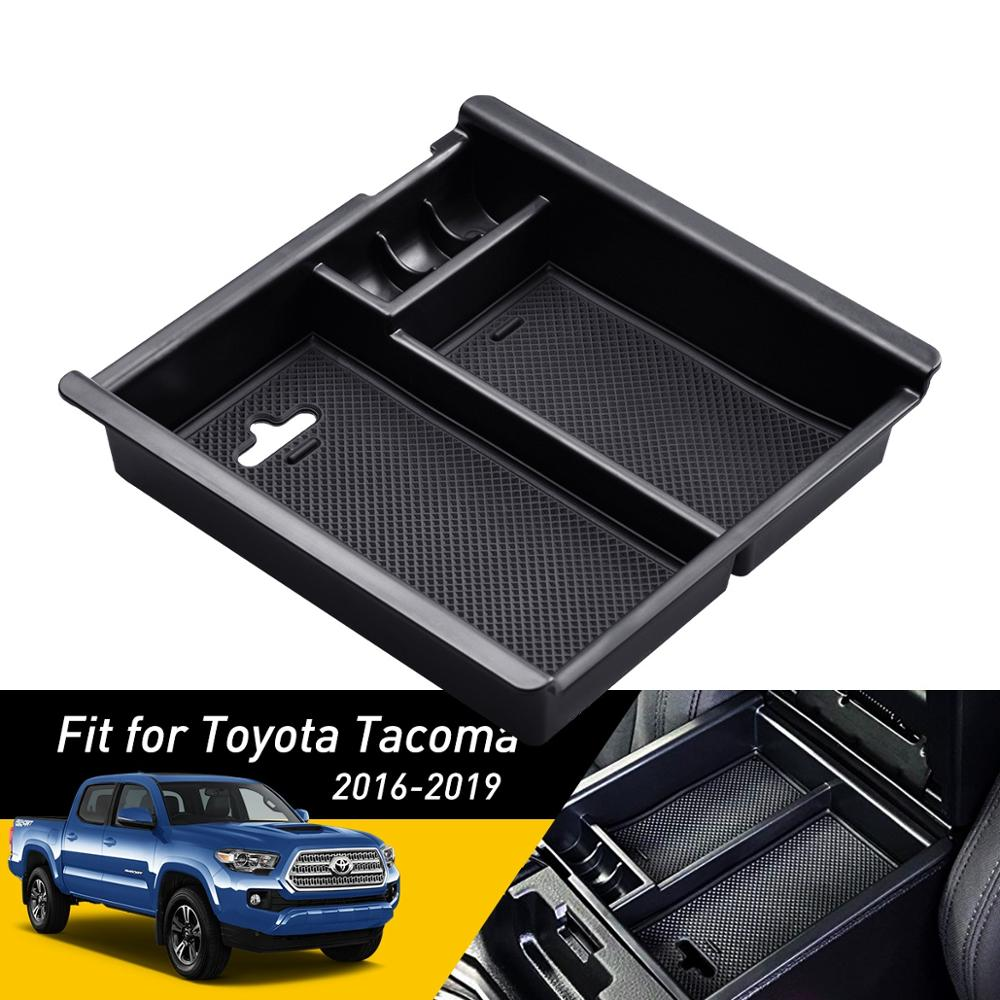 For Toyota Tacoma 2016 2017 2018 2019 Accessories Car Central Armrest Storage Box Auto Container Glove Organizer Case