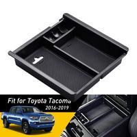 Para Toyota Tacoma 2016 2017 2018 2019 Acessórios Do Carro apoio de Braço Central De Armazenamento Caixa de Auto Luva Recipiente Organizador Caixa Adesivos para carro     -