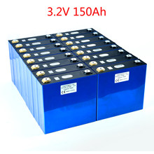8PCS NEW 3.2V 150Ah Lithium Iron Phosphate Cells Lifepo4 Battery DIY Solar 12V 24V 48V Battery Pack Cycle 4000Times TAX FREE(China)