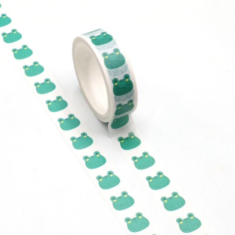 NEW 1pc Cute Frogs Washi Tape Kawaii Scrapbooking Tool Adhesive Masking Tape Photo Album Diy Decorative Tape
