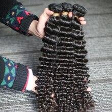 Rosabeauty 3 mechones de cabello rizado brasileño 10A, cabello humano sin procesar, 26 mechones de 28 pulgadas, Color Natural, cabello virgen profundo