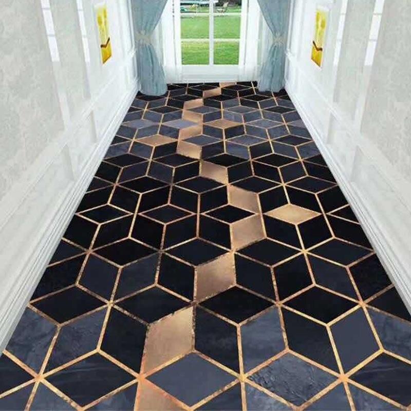 Long Hallway Rug Nordic Geometric