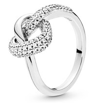 High quality version 100% 925 Sterling Silver delicate small crowd Love ring Silver heart ring Original charm(China)