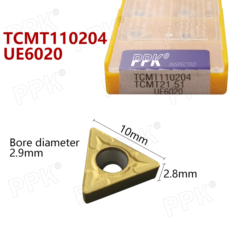 10Pcs TCMT110204 UE6020 Internal Turning Tools Carbide Inserts Cutting Tool CNC Tools Lathe Tools Lathe Cutter