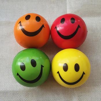 4 sztuk 6 3cm miękkie PU pianki piłki stresowe Coloful Funny Smiley Face Squeeze Anti piłki stresowe piłki zabawki dla dzieci dzieci tanie i dobre opinie SONGYI BL121 3 lat Unisex Piłeczka antystresowa Sport Z pianki