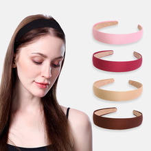 Retro Simple Wide-brimmed Headband Practical Solid Color Fabric Hairpin Sport Hair band Accessories