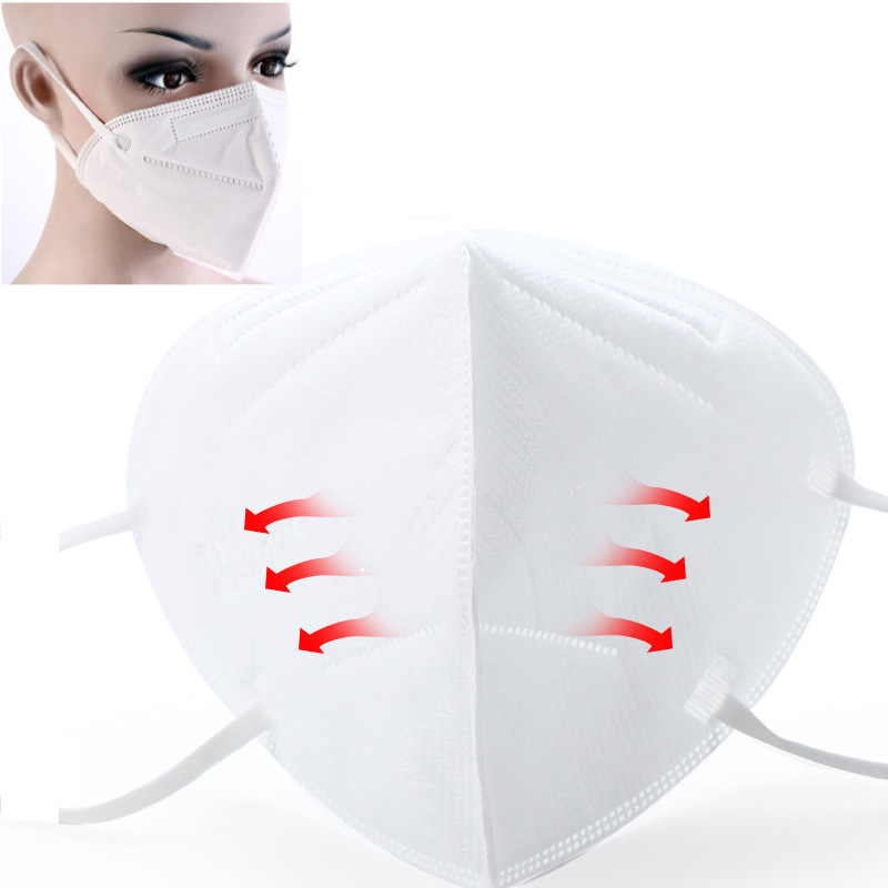 1Pcs KN90 Protection Mask Filtration Cotton Face Mouth Mask Anti Bacterial Dust Protection 4 Filters Against Droplet Mask Reuses